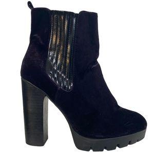 Report Signature Polk Chelsea Velvet Purple Boots